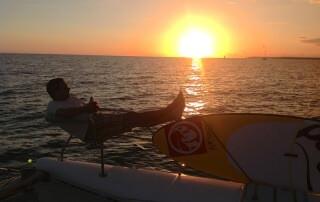 Katamaran sunset